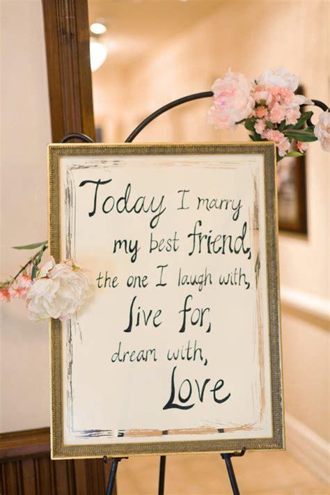 14 Beautiful Wedding Ceremony Sign Ideas   weddingsonline