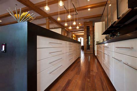Kitchen Black White Units Loft In Noho New York City New York Loft Kitchen Design