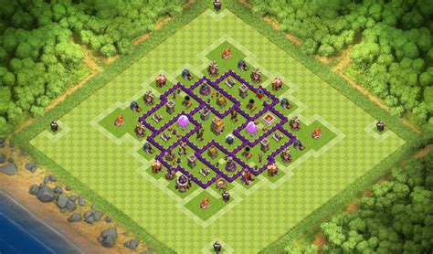 town hall 7 base best base for town hall 7 clash of clans th7 coc best base