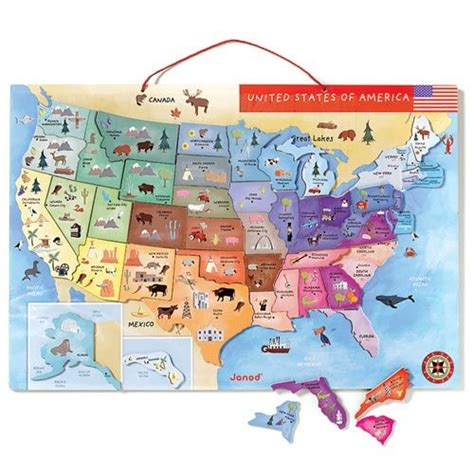 magnetic map of the united states toys puzzles