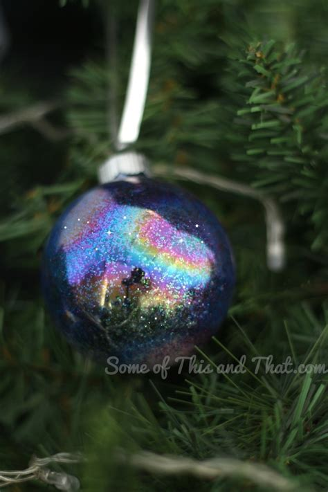 diy ornaments glitter diy glitter galaxy ornaments some of this and that