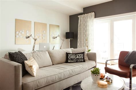 Accent Wall For Gray Living Room Kendall Charcoal Contemporary Living Room Benjamin