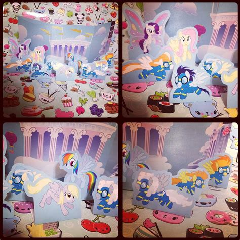 Papercraft For Sale - mlp cloudsdale flying show papercraft for sale by