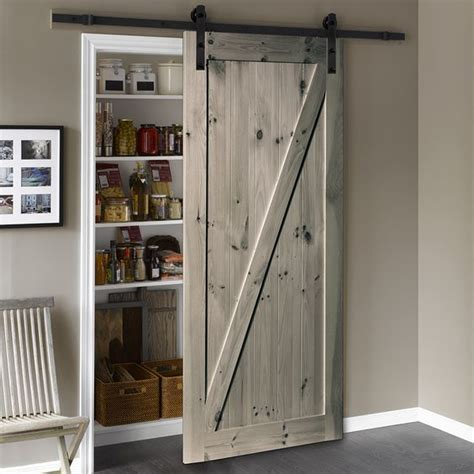 Solid Core Z Frame Pine Barn Door Common 36 In X 84 In Lowes Interior Sliding Doors