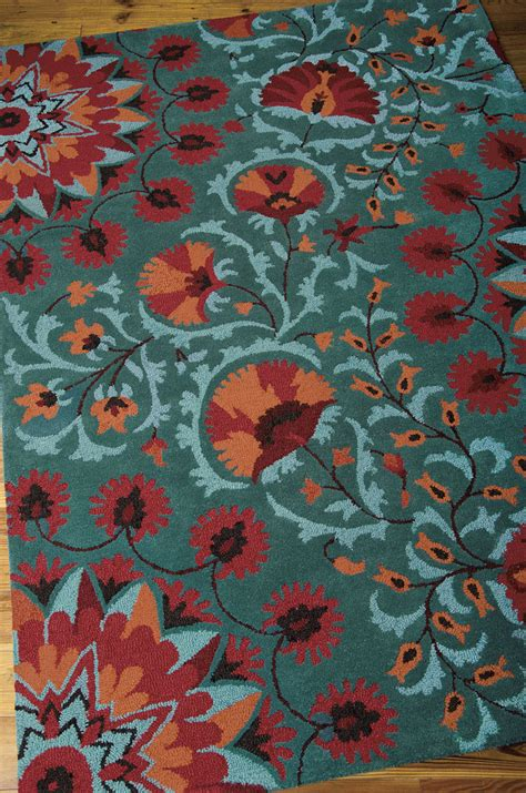 Suzani Rugs Sale by Nourison Suzani Suz02 Teal Area Rug Payless Rugs