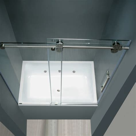Frameless Tub Glass Doors Vigo 60 Inch Frameless Tub Door 3 8 Quot Clear Chrome Hardware Product