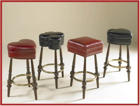 maitland smith bar stools leather playing card upholstered bar stools maitland