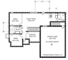 House Plan With Basement House Plans With Basketball Courts Inside House
