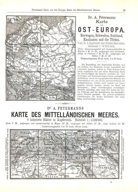 p petermann s mittelmeer karte 1880 1890