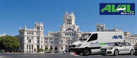 alquilar coche en de la alquiler furgonetas y coches madrid aval rent a car