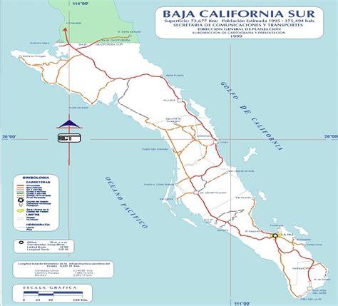 baja california sur map baja california sur mexico road map mapsof net
