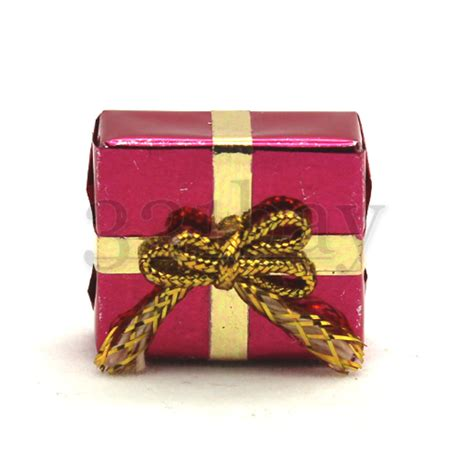 Gifts Decorations by Dollhouse Gift Present Wrapped Miniature