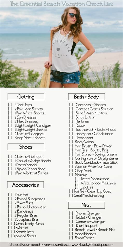 27 best vacation images on pinterest beach vacation packing list