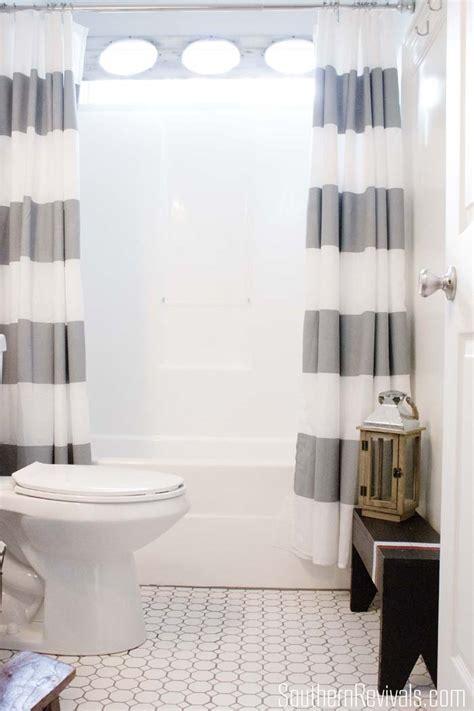 boys bathroom shower curtains nautical guest friendly boys bathroom makeover reveal