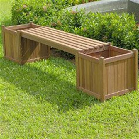 outdoor bench with planter boxes pinterest the world s catalog of ideas