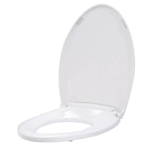 heated toilet seat elongated brondell lumawarm heated nightlight elongated closed front