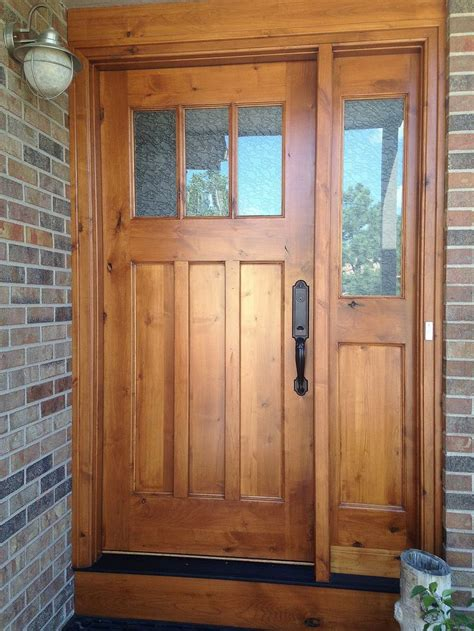 Wood Front Entry Doors With Sidelights Best 25 Craftsman Style Front Doors Ideas On Craftsman Front Doors Craftsman Style