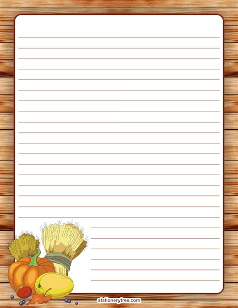 free thanksgiving writing paper printable thanksgiving stationery