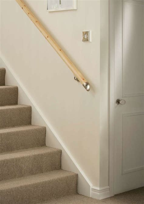 fitting a banister handrail stair banister wall mounted lambs tongue handrails