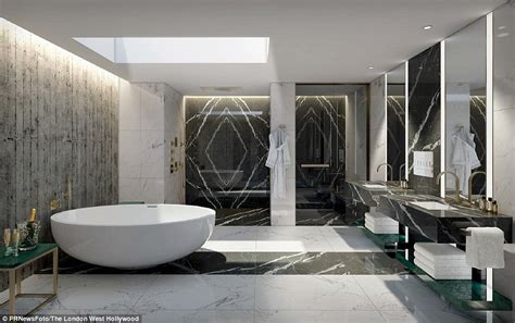 luxury contemporary bathroom suites vivienne westwood designs penthouse at the west
