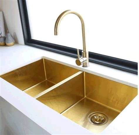 Kitchen Sink Australia Brushed Burnished Brass Tapware Mixers Showers Sinks Australia