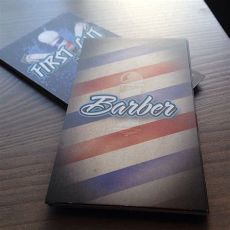 barber business card template barber shop business cards on behance