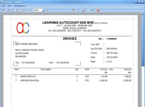 contoh surat tagihan invoice yang baik dan benar