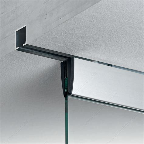 Sliding Glass Door Track System Eku Porta 100 Gm Ceiling Mount Sliding Glass Door System Richelieu Hardware