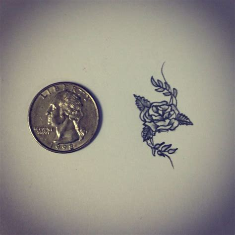 rose small tattoo small sketch drawing by ranz
