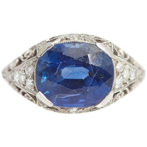 antique sapphire platinum ring eleuteri