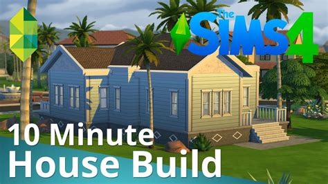how to build own house the sims 4 10 minute house build youtube