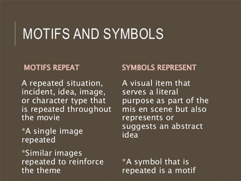 theme symbols and motifs the notebook motifs symbols and tropes