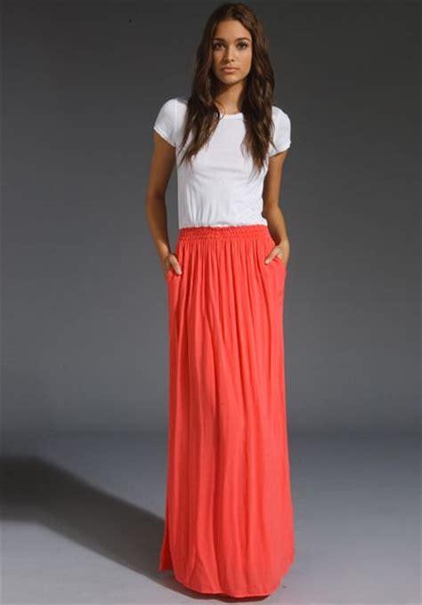 splendid t shirt maxi dress in orange blaze lyst