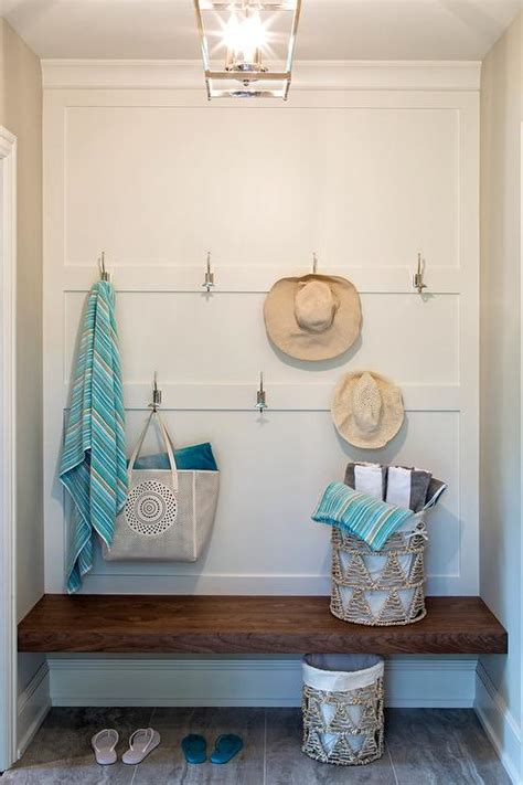laundry room bench wooden floating mudroom bench cottage laundry room
