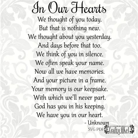 hearts poem bereavement mourning sympathy grief