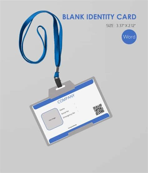 id card template word software 30 blank id card templates free word psd eps formats