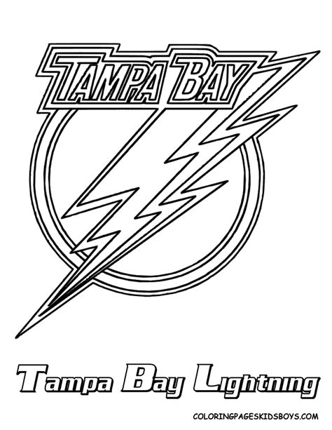 free coloring pages of ta bay lightning logo