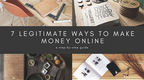 Legit Way To Make Money Online - 7 legitimate ways to make money online step by step guide