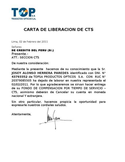 banco bcp formato para deposito de cts noviembre 2016 carta de liberacion de cts
