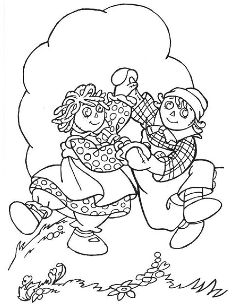 Raggedy Coloring Pages raggedy and andy coloring pages coloring home