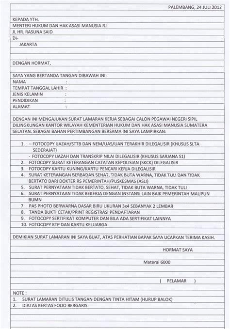 Surat Lamaran Kerja Kejaksaan Agung Tulis Tangan by Surat Lamaran Kerja Guru Olahraga Contoh Lamaran Kerja