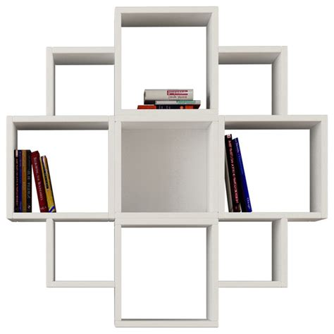 Wall Shelf Display by Fiore Wall Shelf White White Display