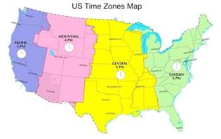 Time Zones Map by Map Of The United States Divided By Time Zones Pictures To
