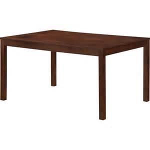 Mainstays Parsons Dining Table Black Mainstays Parsons Large Rectangular Dining Table Espresso Furniture Walmart Com
