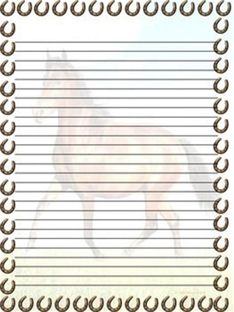 free printable horse stationery 152 best images about borders equine stationary on
