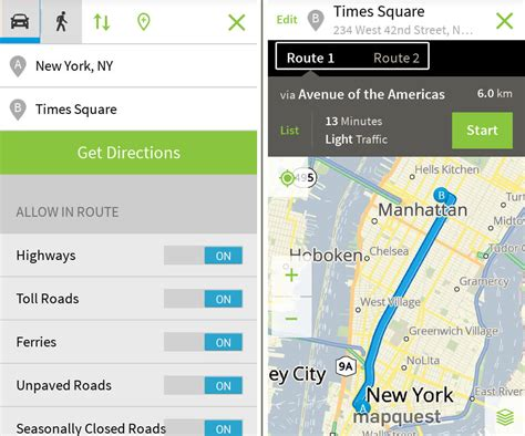 map guest mapquest review driving directions hotel bookings travel portal