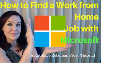 how to find a work from home with microsoft