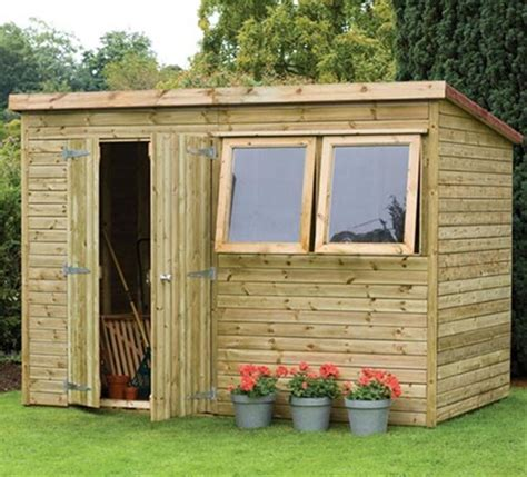 backyard workshop shed premium pent garden workshop shed by forest garden internet gardener