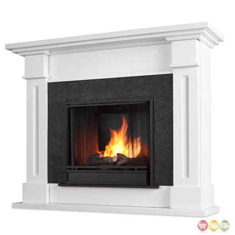 gel fuel fireplace kipling ventless gel fuel fireplace in white with cast