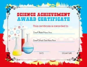 science certificate templates science achievement award certificates professional
